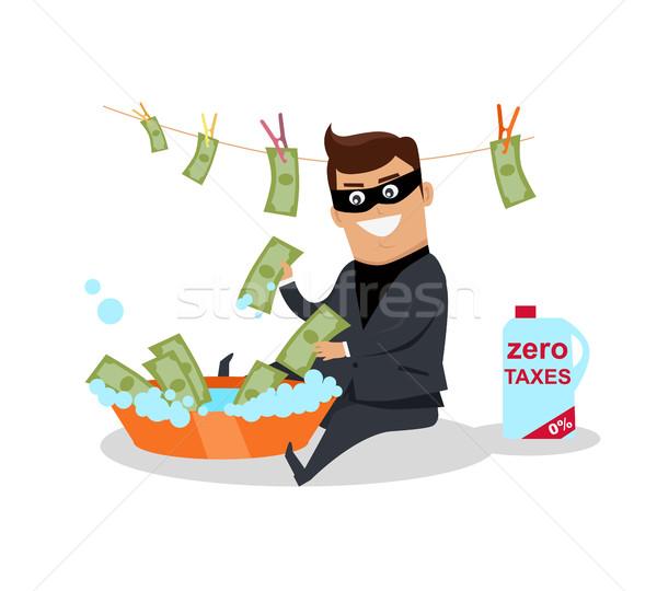 Geld ontwerp vector financiële criminaliteit belasting Stockfoto © robuart