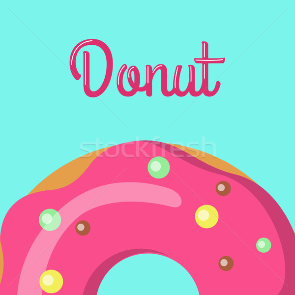 Donut savoureux sweet donut design alimentaire Photo stock © robuart