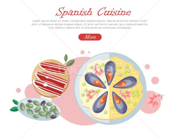 испанский кухня веб баннер Тапас традиционный Сток-фото © robuart