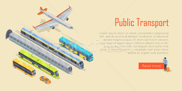 Transport Infographic. Public Transport. Vector Stock photo © robuart