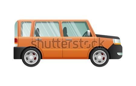Pomarańczowy jeep okulary prędkości pojazd odizolowany Zdjęcia stock © robuart