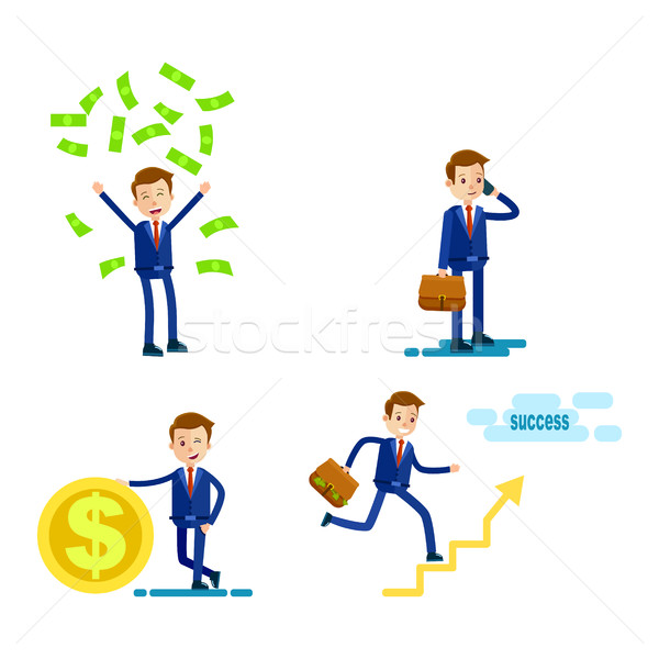Lifestyle of Successful Businessman Flat Design Stock photo © robuart