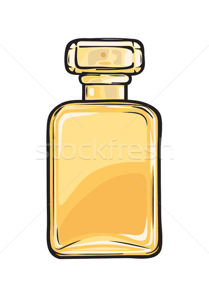 Fashionable Perfume in Glass Yellow Flask Close-up Stock photo © robuart
