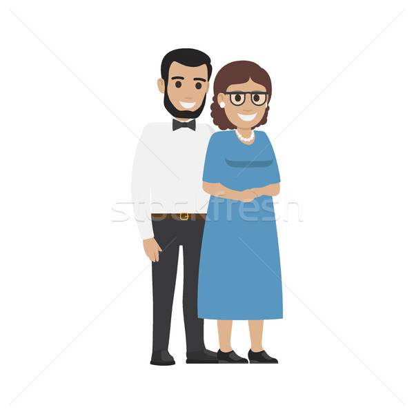 Married Middle Aged Couple. Average Family Vector Stock photo © robuart