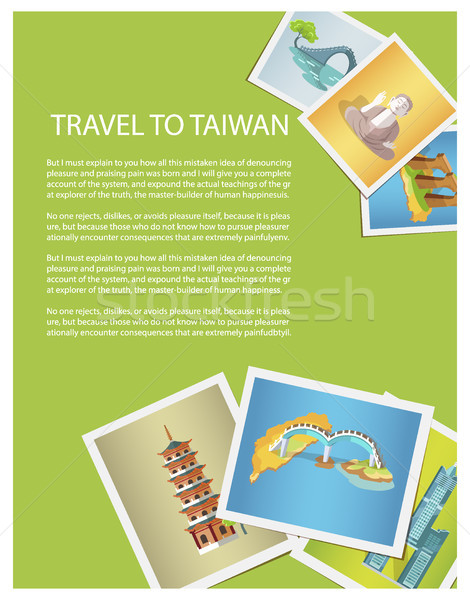 Travel to Taiwan Promotion Poster with Photos Stock photo © robuart