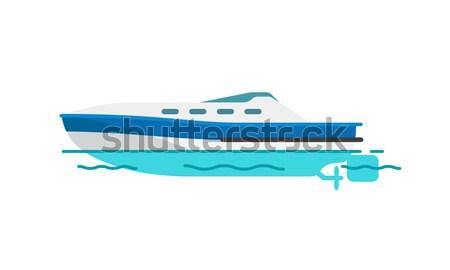 Motor Boat Sailboat Vector Illustration Isolated Stock photo © robuart