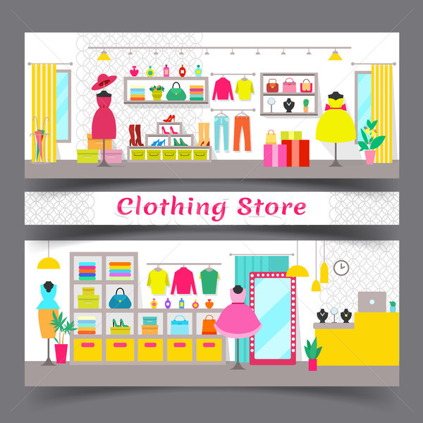 Clothing Store Full of Chic Fashionable Garments Stock photo © robuart