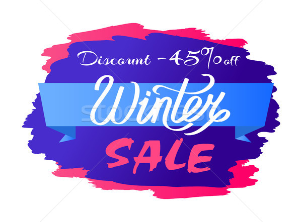 Discount - 45 Winter Sale Promo Label Design Text Stock photo © robuart