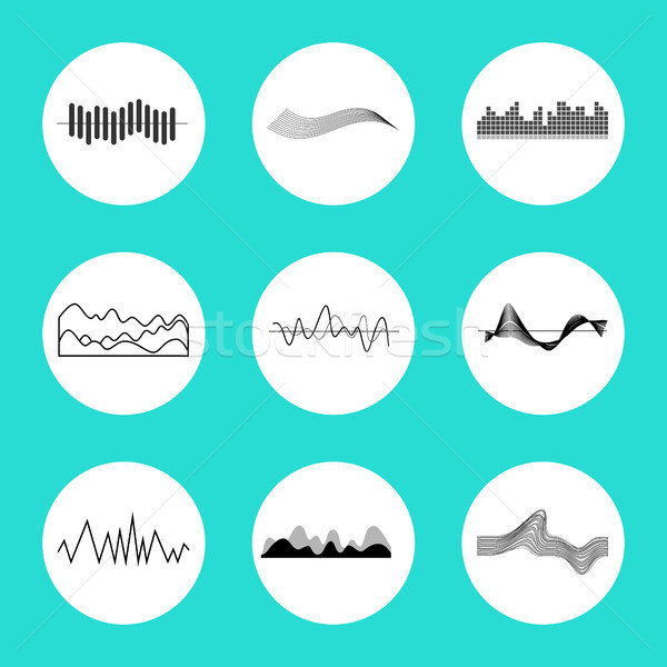 Set of Charts in Circles on Vector Illustration Stock photo © robuart
