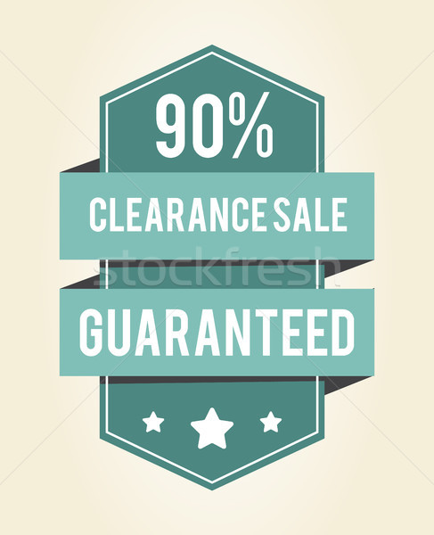 Clearance Sale Guaranteed 90 Vector Illustration Stock photo © robuart