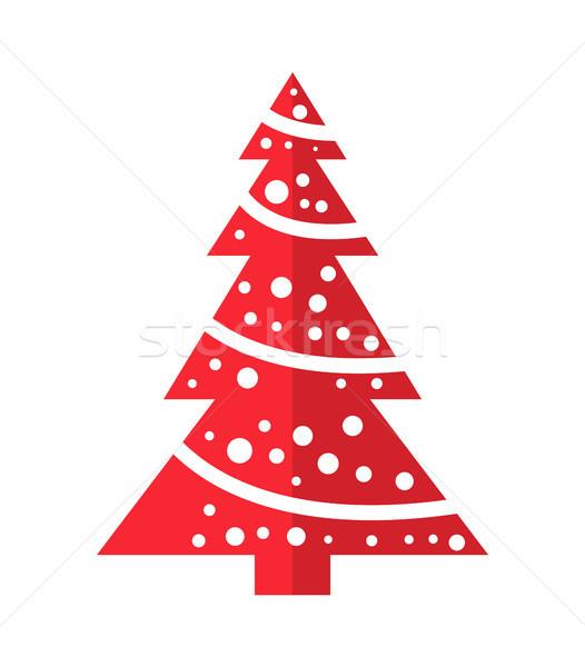 Symbol Weihnachtsbaum.Winter Rot Weihnachtsbaum Symbol Stil Linear Vektor