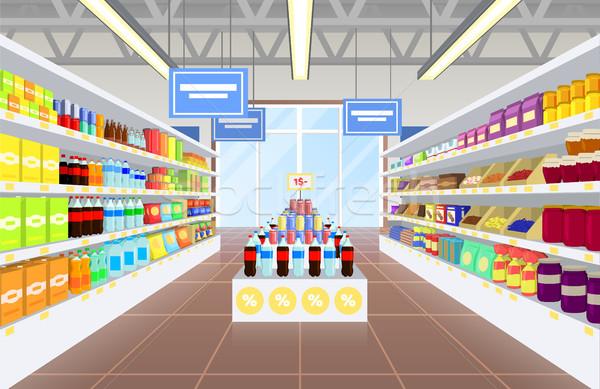 Supermarket and Product Poster Vector Illustraiton Stock photo © robuart