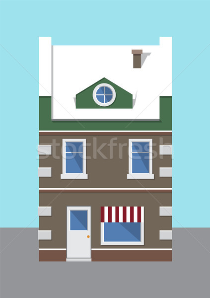 Building Covered with Snow Vector Illustration Stock photo © robuart