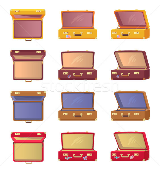 Lot of Opened Colorful Cases Vector Illustration Stock photo © robuart