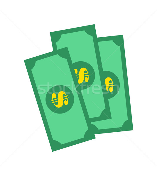 Banknotes of Green Color, Vector Illustration Stock photo © robuart