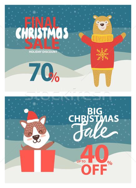 Végső karácsony vásár felfelé 40 el Stock fotó © robuart