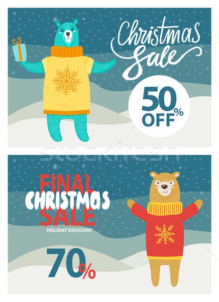 Finale Natale vendita up promo Foto d'archivio © robuart
