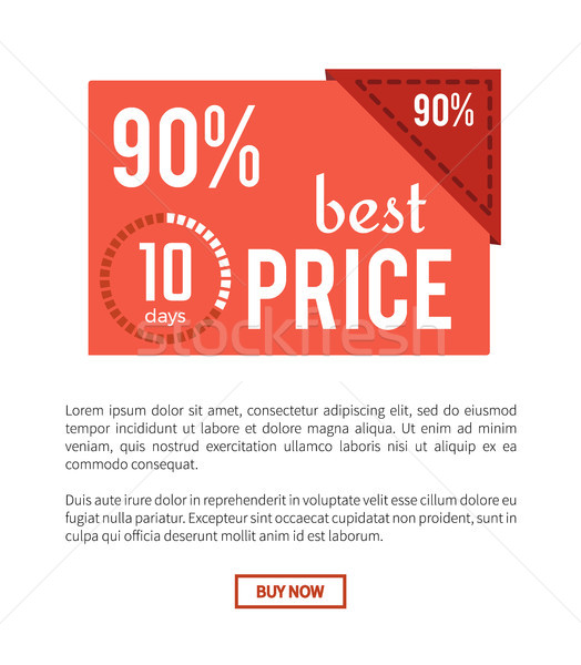 Stock photo: 90 Best Price Web Page Style Vector Illustration