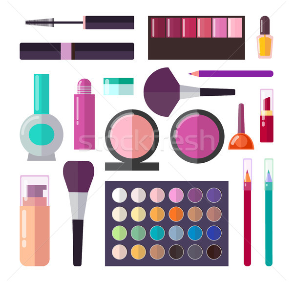 Professional Luxurious Decorative Cosmetics Set Stock photo © robuart