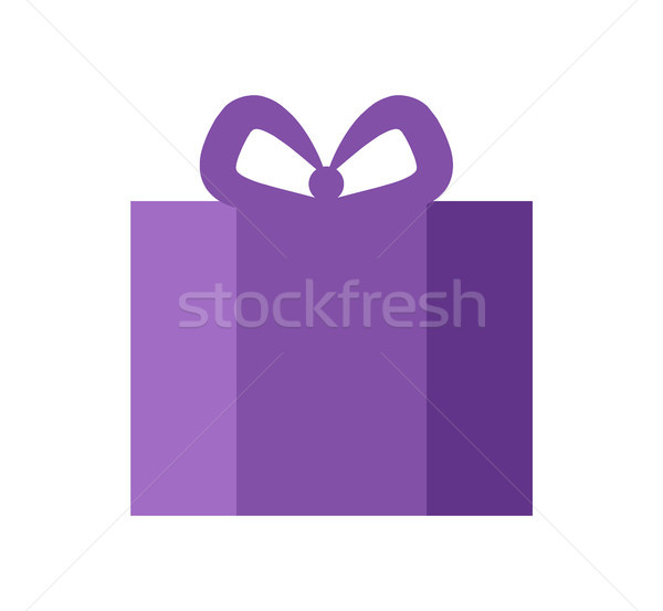 Present of Purple Color Banner Vector Illustration Stock photo © robuart