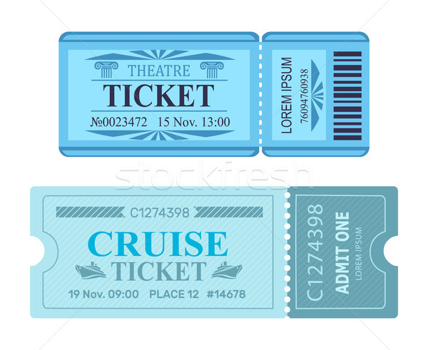 Theater Ticket Kreuzfahrt Gutschein Vektor Illustrationen Stock foto © robuart