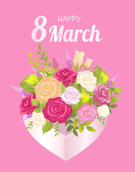 Happy 8 March Decoration, Vector Illustration Stock photo © robuart