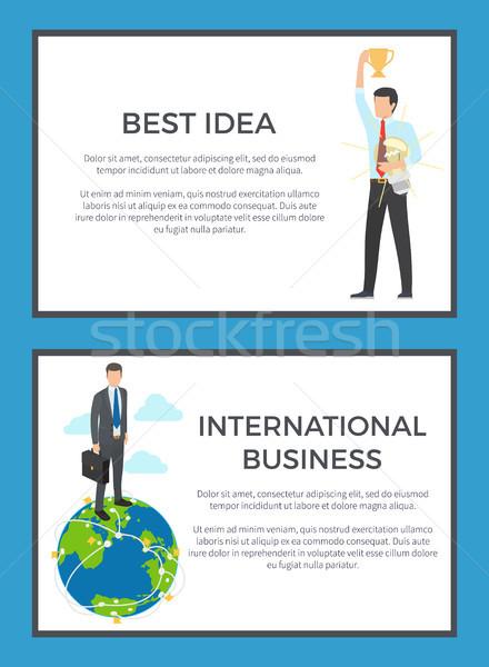 Migliore idea business internazionale set uomo Foto d'archivio © robuart