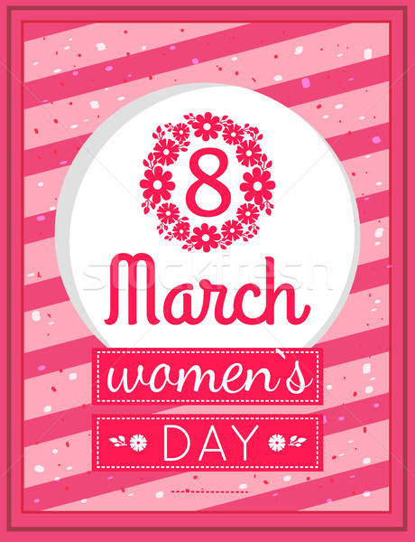 Womens Day March Eight Greeting Card Design Vector Stock photo © robuart
