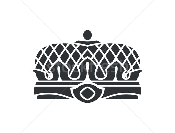 Crown Closeup of Silhouette Vector Illustration Stock photo © robuart