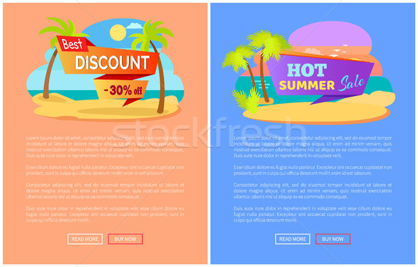 Best Discount Off Hot Summer Sale Online Web Pages Stock photo © robuart