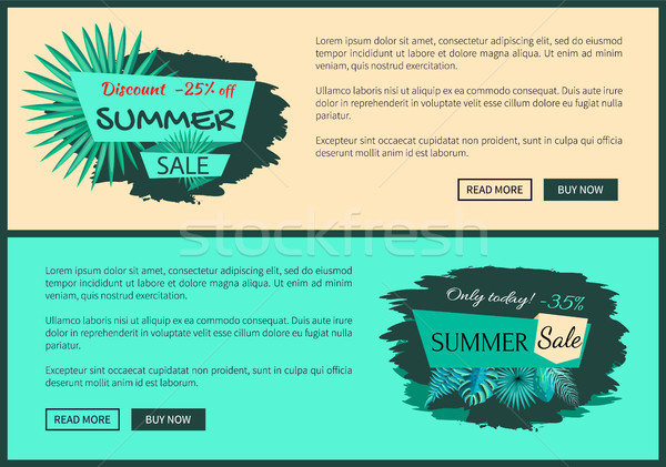 Discount 25 and 45 Percent Summer Sale Promotion Stock photo © robuart