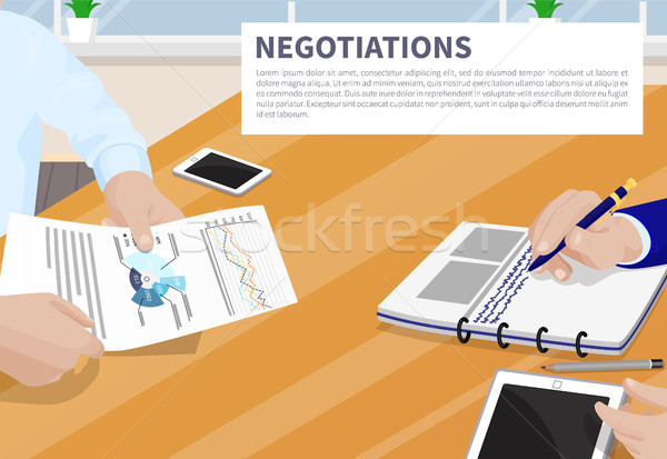 Negotiation Colorful Banner Vector Illustration Stock photo © robuart