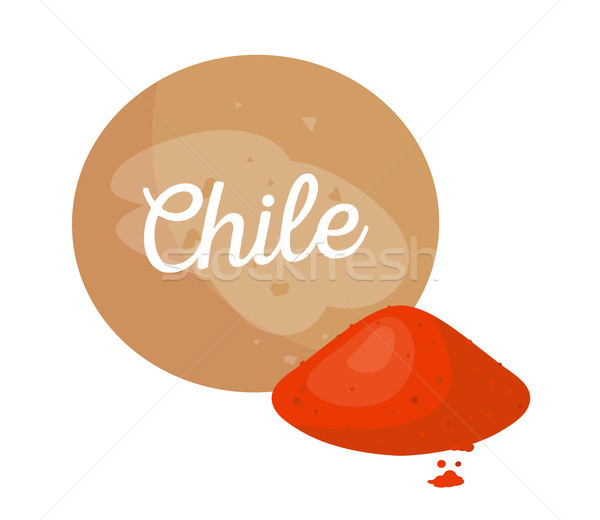 Chile Spice Poster Headline Vector Illustration Stock photo © robuart