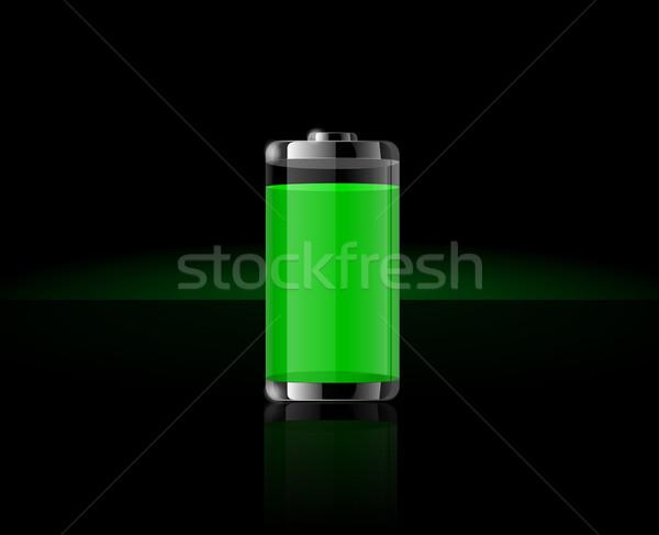 Transparente batería iconos completo verde Foto stock © robuart