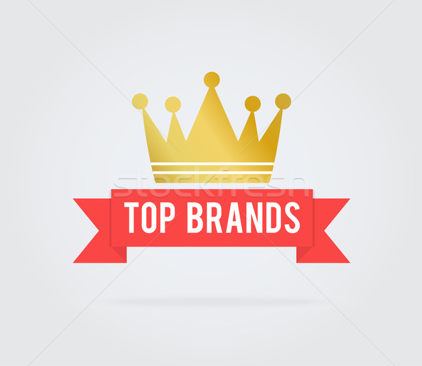 Top brand card tag Stock photo © robuart