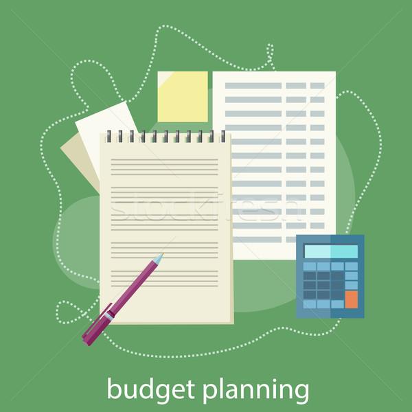 Bütçe planlama finansal muhasebe borsa analiz Stok fotoğraf © robuart