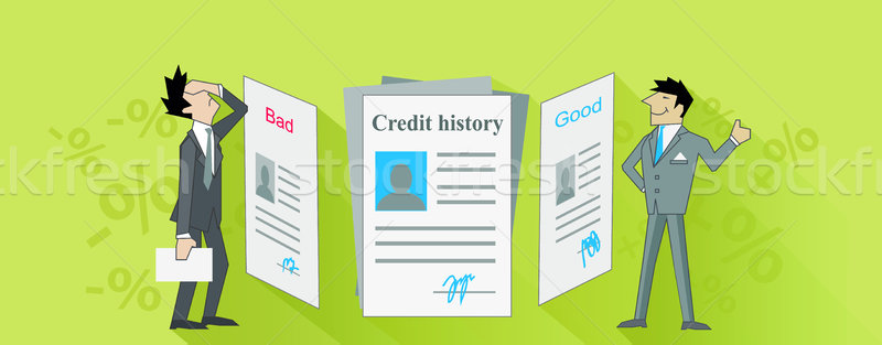 Credit History Bad and Good Design Stock photo © robuart
