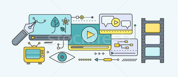 Távolság tanul oktatás online tutorial videó Stock fotó © robuart