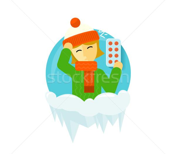 Winter Illness Season People Design Stock photo © robuart