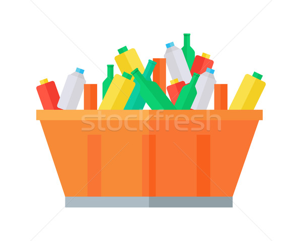 Container with Garbage Vector Illustration.  Stock photo © robuart