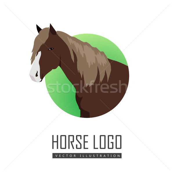 Sorrel Horse Logo Stock photo © robuart