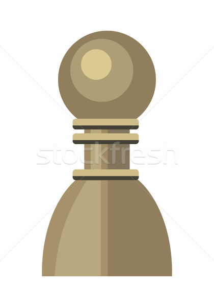 Pawn Vector Illustration in Flat Style Design   Stock photo © robuart