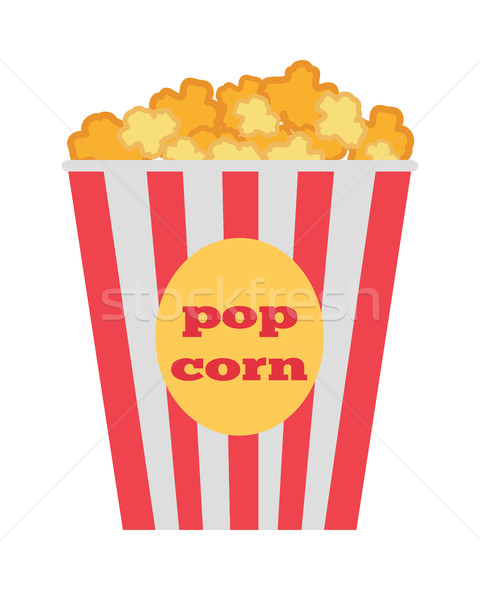 Popcorn Box Vector. Traditional Salty, Sweet Snack Stock photo © robuart
