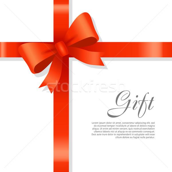 подарок красный широкий лента ярко лук Сток-фото © robuart