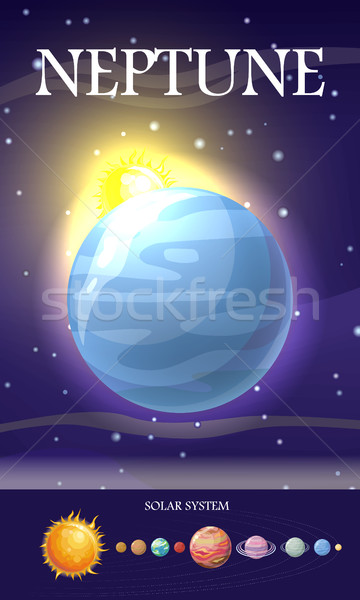 Planet Neptune in Solar System Stock photo © robuart