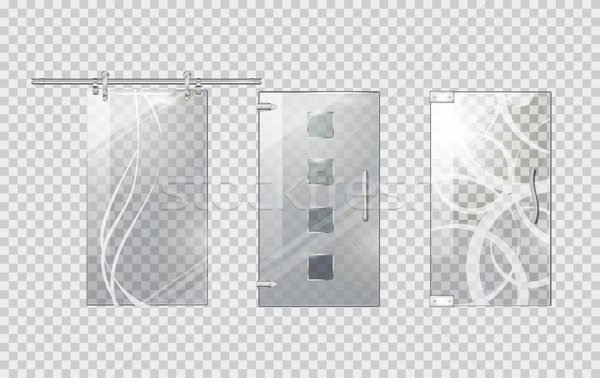 Glass Door Collection on Transparent Background Stock photo © robuart