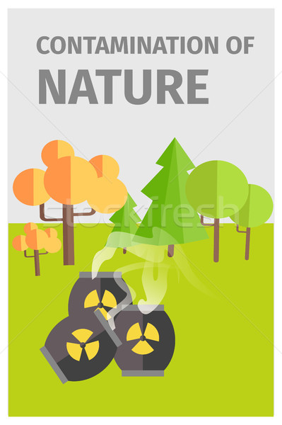Contamination of Nature in Forest with Chemicals Stock photo © robuart