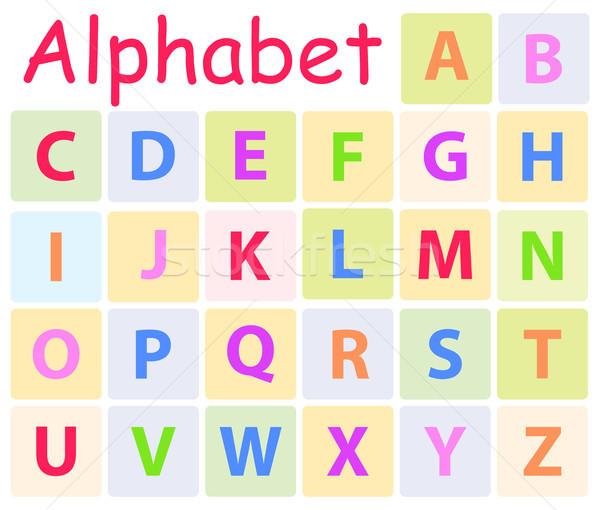Foto stock: Alfabeto · 26 · cartas · icono · iconos
