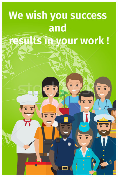 We Wish You Success and Results in Your Work Card Stock photo © robuart