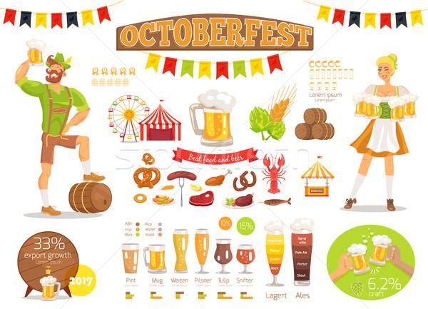 オクトーバーフェスト ベクトル ポスター 食品 ビール ストックフォト © robuart